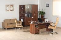 Офис в цвят орех