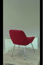 издръжливи червени  офис кресла